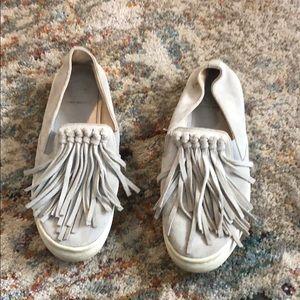 Tory Burch fringe shoes